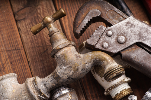 Working tools, plumbing, pipes and faucets